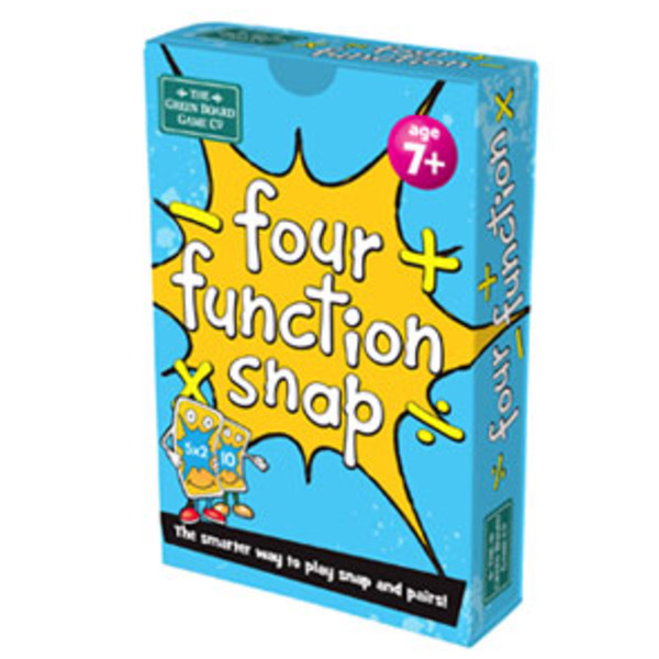 Large four function snap times divide add subtract take away addition multiplication snap card game green board games for children aged years and up