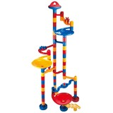 Small galt marble racer run 80 eighty pieces construction