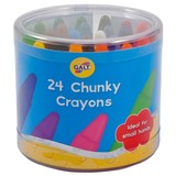 Small galt 24 twenty four coloured chunky crayons early years suitable for 3 three years and up