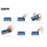Small lexon flip alarm metalblue lr130