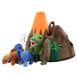 Small fun junction toy shop crieff perth perthshire scotland puppet company co hide away puppet dinosaur finger puppets stegosaurus diplodocus t rex tyranosaurus rex with volcano hide and seek
