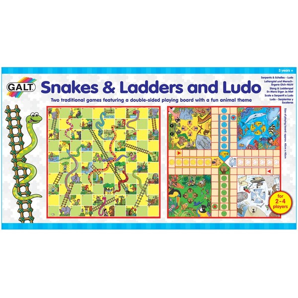 Large galt snakes and ladders and ludo board game suitable from 3 three years and up