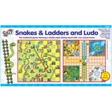 Small galt snakes and ladders and ludo board game suitable from 3 three years and up
