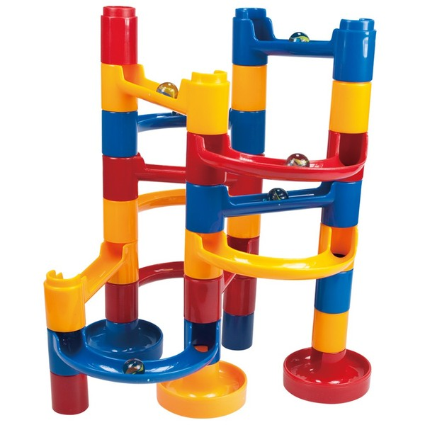 Large galt marble run 30 thirty pieces construction