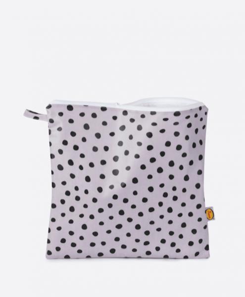 Large ladybird lilac dot washbag