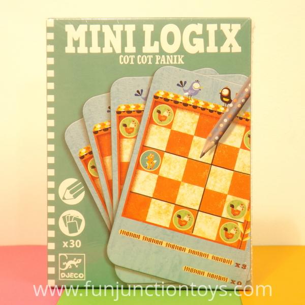 Large dj ml cot cot panik djeco logic puzzle game pencil card  w
