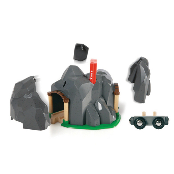 Large dynamite exploding tunnel brio railway wooden track add ons on accessories