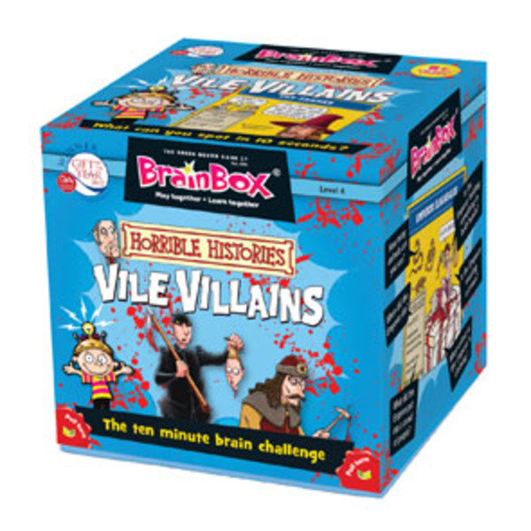 Large brainbox horrible histories vile villains for history memory game for children aged 8 eight years and up