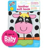 Small galt toys fun junction toy shop perth crieff perthshire scotland early years baby toddler soft teether and book farm animals cloth fabric cow teething ring