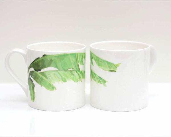 Large bananaleaf pair mug