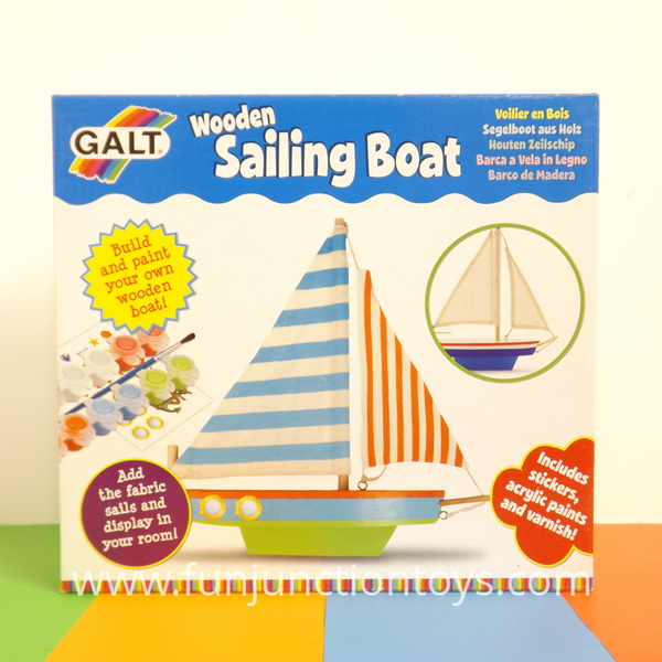 Large glt ck wooden sailing boat paint your own sail boat for age 6 six and up 3 three and up with supervision  w