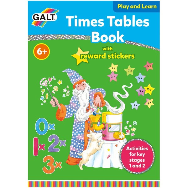 Large galt toys fun junction toy shop perth crieff perthshire scotland educational activity book times tables with stickers one to ten 1 to 10