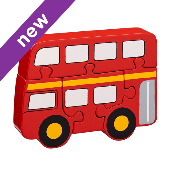 Large bus jigsaw puzzle lanka kade fair trade toy toys wooden wood natural fun junction toy shop stop store crieff perth perthshire scotland