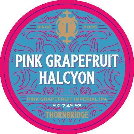 Large pink grapefruit halcyon