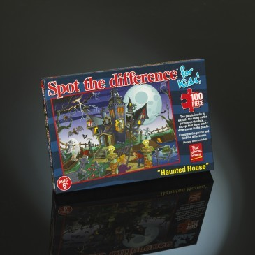 Large haunted house puzzle spot the difference jigsaw