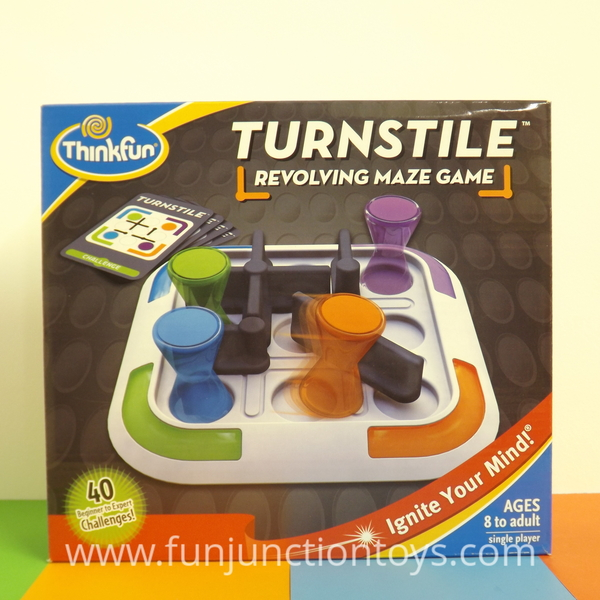 Large pld tf turnstile thinkfun think fun logic game puzzle solitaire single player doors and pathways suitable for 8 eight years to adult  w