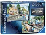 Small ravensburger fun junction toy shop perth crieff perthshire scotland jigsaw puzzle jig saw railway heritage no 2 2 x 500 pc piece pieces pack
