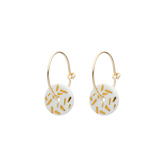 Small 1951 porc gold dash earrings
