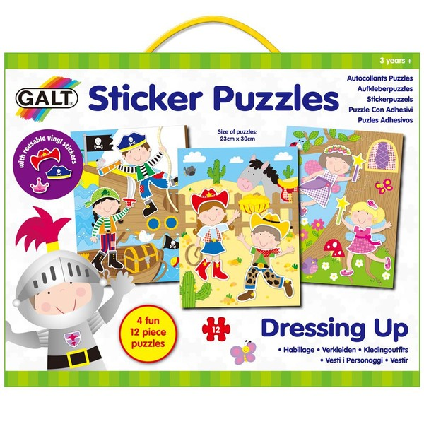 Large galt toys sticker puzzle dress up reusable stickers fun junction toy shop crieff perth scotland