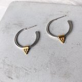 Small boudiccaearrings silver gold