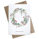 Small happily ever a6 new wedding card