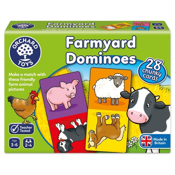 Large orchard toys farmyard dominoes