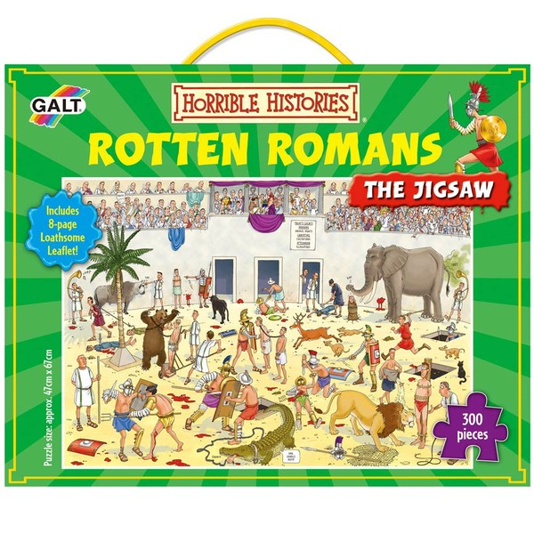 Large galt horrible histories rotten romans 300 three hundred piece jigsaw puzzle