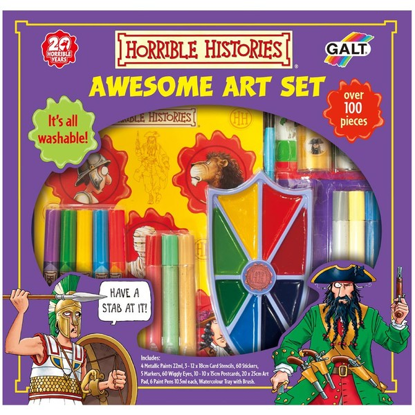 Large galt horrible histories awesome art set for 6 six years and up