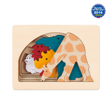 Small george luck grasslands wooden puzzle giraffe elephant rhino lion gorilla hape fun junction toy shop crieff perth perthshire scotland