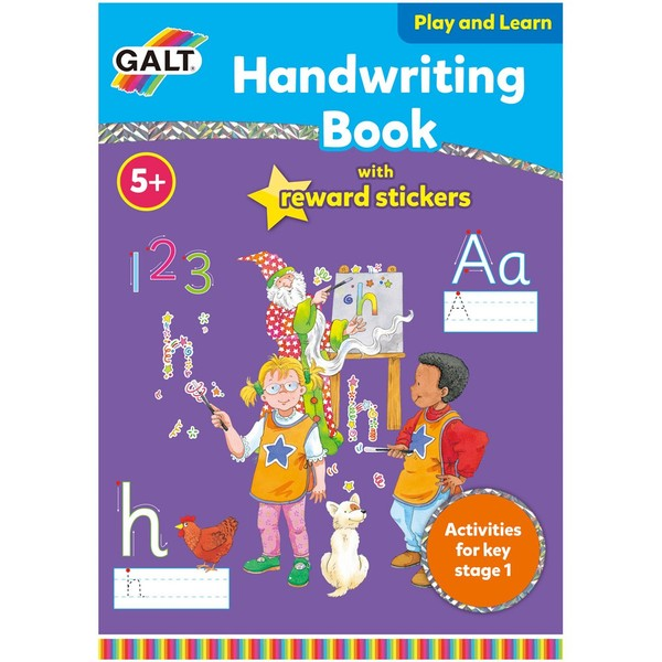 Large galt handwriting activity book with stickers for children aged 5 five years and up