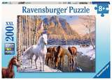 Small ravensburger fun junction toy shop perth crieff perthshire scotland jigsaw puzzle jig saw winter horses 200 xxl extra extra large pieces piece pc pcs 4005556126903