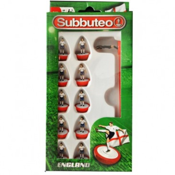 Large player england team subbuteo table top football