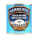 Small b079577 hammerite quick dry radiator paint satin white 500ml
