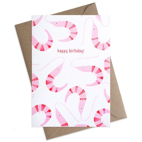 Large shrimp pattern happy birthday greeting card 1024x1024