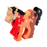Small horse pony number puzzle 1 to 5 one to five jigsaw puzzle lanka kade fair trade toy toys wooden wood natural fun junction toy shop stop store crieff perth perthshire scotland