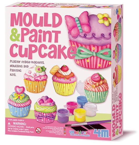Large mould and paint cupcake