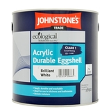 Small 0103590 johnstones trade acrylic eggshell brilliant white 25l 550