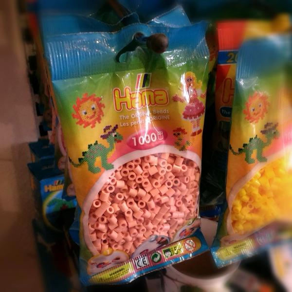Large hama beads maxi regular pack 1000 beads flesh tone pink