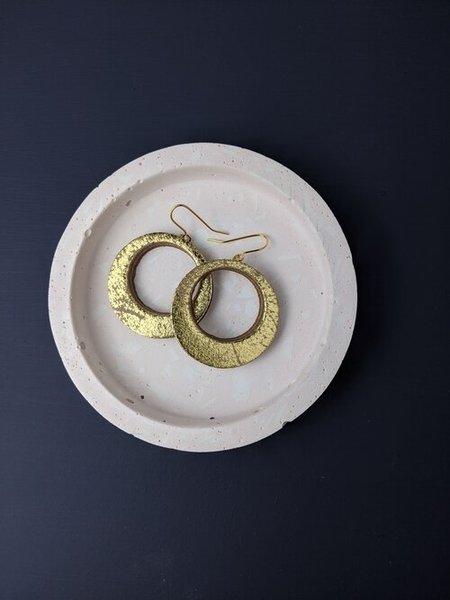 Large km medium gold hoops