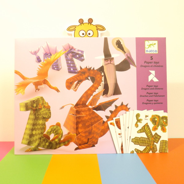 Large dj c dragons and chimeras paper toys