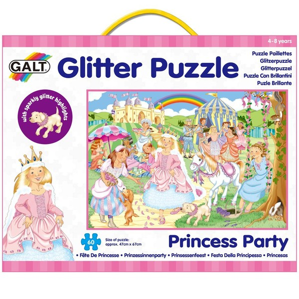 Large galt glitter puzzle 60 sixty piece princess party suitable for children aged 4 four years and up