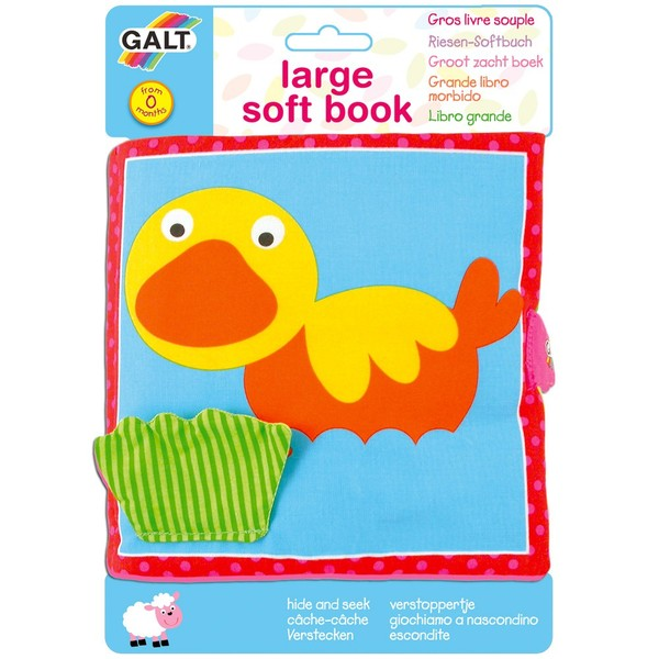 Large galt toys fun junction toy shop perth crieff perthshire scotland early years baby toddler large soft book animals cloth fabric