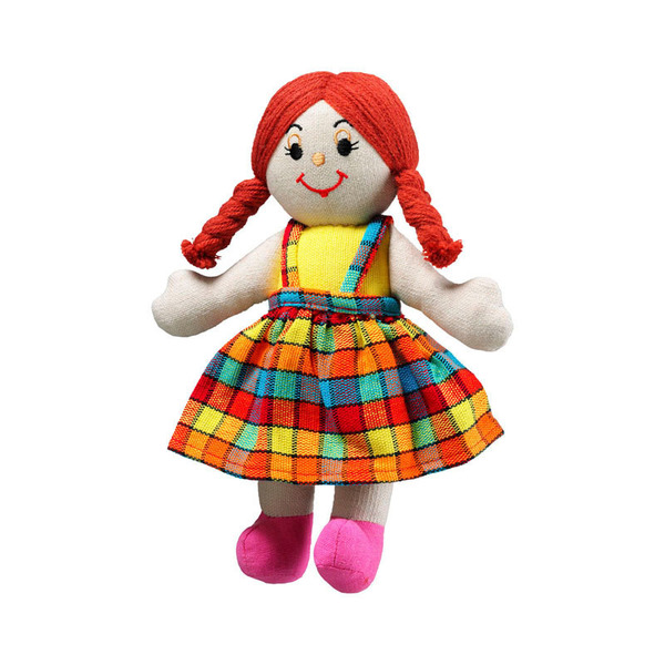 Large rag doll girl white skin red hair cotton lanka kade fair trade toy toys natural fun junction toy shop stop store crieff perth perthshire scotland