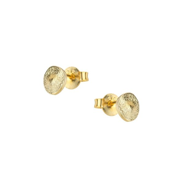 Large 1918 gold pebble stud earrings 1024x1024