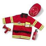 Small fun junction toy shop melissa doug dress up costume pretend play fireman firefighter fireperson