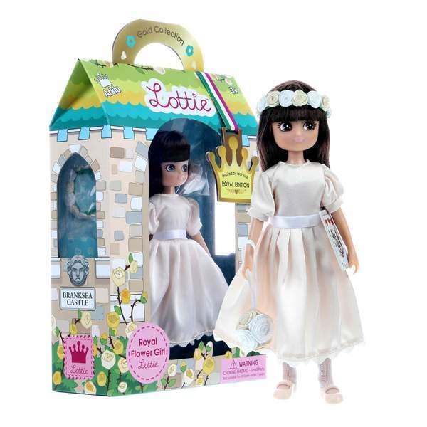 Large lottie doll royal flower girl