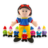 Small fiesta crafts snow white and the 7 seven dwarfs hand glove finger puppet