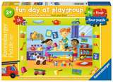 Small ravensburger fun junction toy shop perth crieff perthshire scotland jigsaw puzzle a fun day at playgroup 16 piece floor puzzle 4005556030606