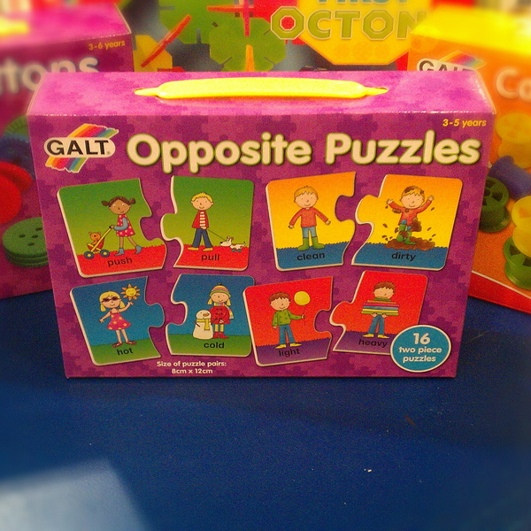 Large galt opposite puzzles preschool toy game opposites differences