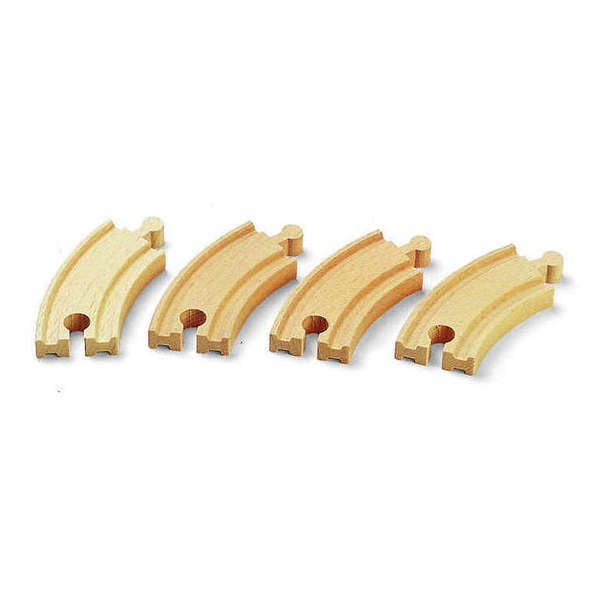 Large short curved tracks brio railway wooden track add ons on accessories